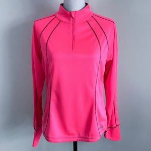 Avia Size Large 1/4 Zip Pullover Athletic Top Pink